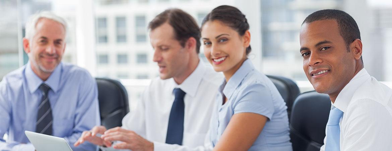 bigstock-Smiling-business-people-brains-45845005
